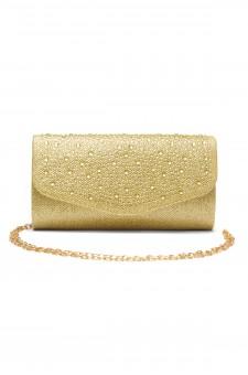 SZY-8808-Glittering Womens Flap Evening Purse (Gold)