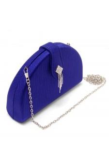 SZY-E1090-Women's Elegant Semi Circle Box Clutch Bag (Royalblue)
