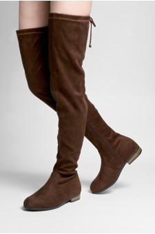 Women's Brown Zelissa Slouchy Fitted over the Knee, Thigh-hi boots