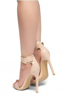 HerStyle ZOANNA-TWICE FUN-Stiletto heel, Strap around the toe Heels (Blush)