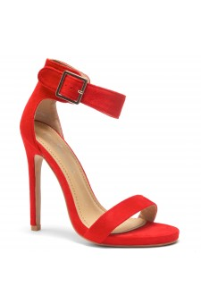 HerStyle ZOANNA-TWICE FUN-Stiletto heel, Strap around the toe Heels (Red)