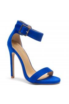 HerStyle ZOANNA-TWICE FUN-Stiletto heel, Strap around the toe Heels (RoyalBlue)