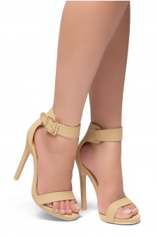HerStyle Zoanna-Stiletto heel, Strap around the toe, Platform (Nude)