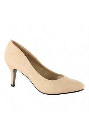 Women's Camel Manmade Chellla 3-inch Pointed Toe Classic Pumps