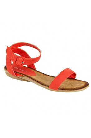 Women's Coral Campus Manmade Colorful Ankle Strap Casual Sandal
