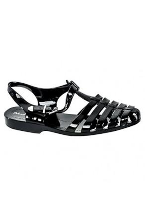 Women's Black Manmade Bequia Gladiator-Style Jelly Sandal
