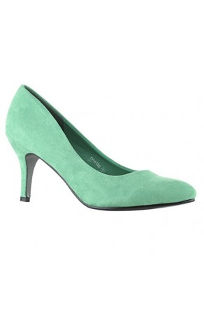 Women's Green Manmade Chellla 3-inch Pointed Toe Classic Pumps