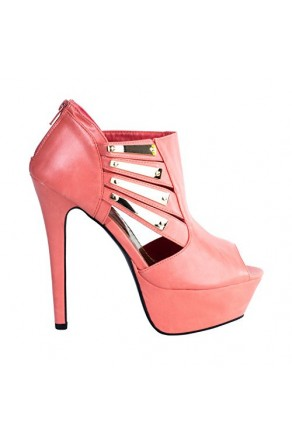 Women's Coral Gillen Manmade Stiletto Pump with Gold-Tone Plaques