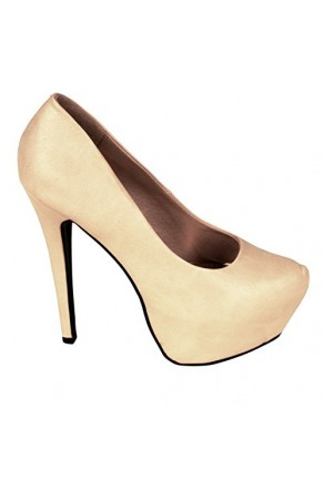 Women's Nude Emmie 6-inch Manmade Stiletto Pump with Hidden Platform
