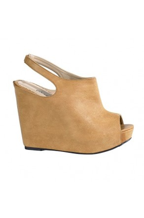 Women's Camel Frances 5-inch Sexy Slingback Wedge