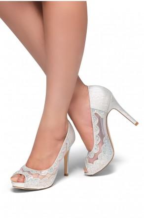 HerStyle Brndey-Stiletto heel, jeweled embellishments (Silver)