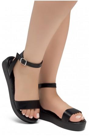 Herstyle Carli-Women's Platform Sandal Open Toe (1801Black/Black)
