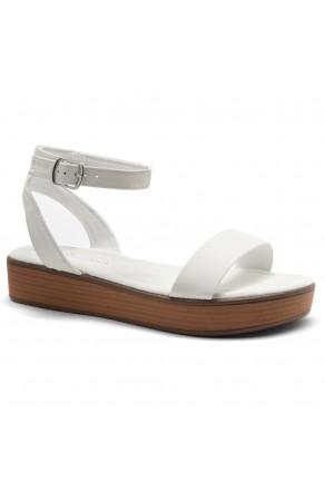 Herstyle Carli-Women's Platform Sandal Open Toe (1801OffWhite)