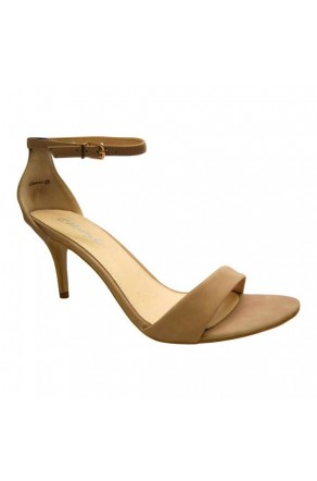 Women's Camel Manmade Classicc Heeled Sandal with Sexy Ankle Strap