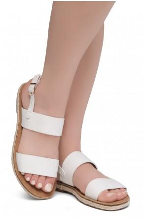 Shoe Land CRALESSA Women's Open Toe Ankle Strap Platform Wedge Sandals (OffWhite)