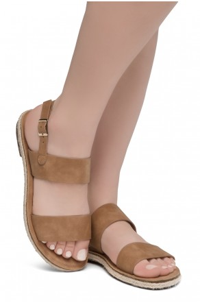 Shoe Land CRALESSA Women's Open Toe Ankle Strap Platform Wedge Sandals (Tan)