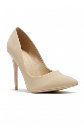 Women's Beige Pointed Toe Classic Pump EMUSE