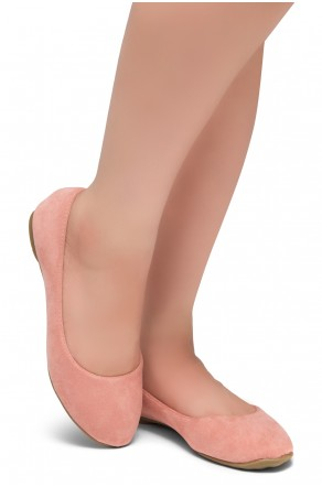 HerStyle Ever Memory -Almond Toe, No detail, Ballet Flat (Mauve IM)