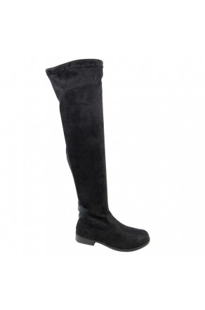 Women's Black Thigh High Boot ICONIC