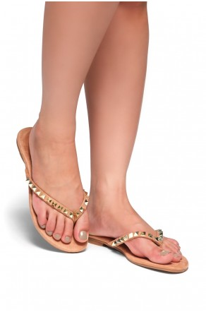 HerStyle Inloving-Stud Flip Flops (Mauve)