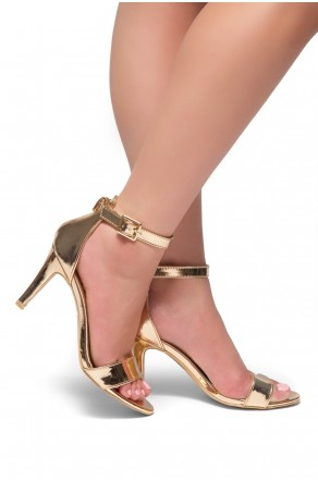 HerStyle Joyccee-Stiletto heel, ankle strap,back closure (RoseGold)