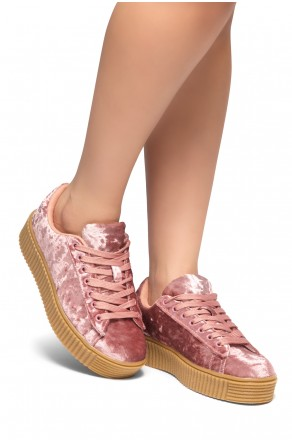 Women's  Platform Creeper Sneaker KATE (Pink)
