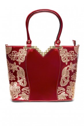 SLC-662119- High-end Patent Elegant Sequin Bag (Red)