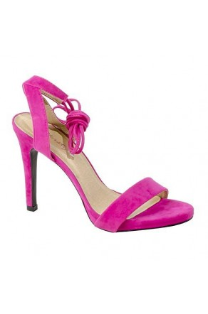 84423eac1653 Women s Fuchsia Manmade Marritta Sueded 4.5-inch Lace-up Sandal