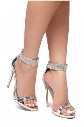 HerStyle Mesmerizing-Stiletto heel, jewel embellishments (Silver)