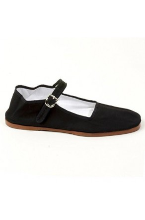 Women's Black Manmade Navassa Soft-Sided Mary Jane Flat