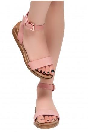 HerStyle Needed Me- Ankle Strap Flat Platform Sandal (Mauve)