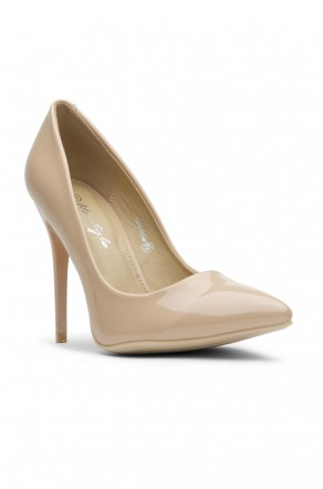 Women's  Manmade Nicklenna 5-inch Pump with Sleek Pointed Toe (Taupe)