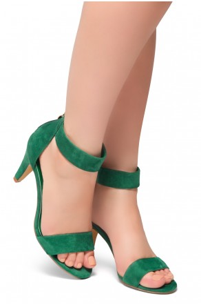 HerStyle RRose-Stiletto heel, back zipper closure (Green)