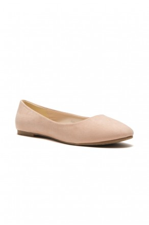 HerStyle Women's Manmade Sammba Colorful Ballet Flat (Peach)