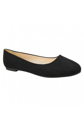 Women's Black Manmade Sammba Colorful Ballet Flats