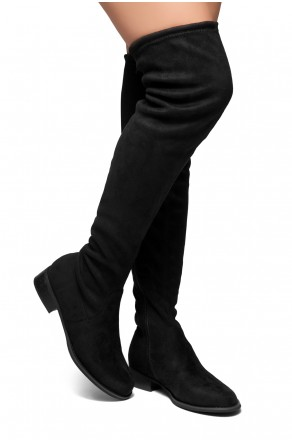 HerStyle Secret Obsession-Women's FashionThigh High Construction Casual Boots(Black)