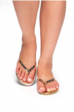HerStyle SIONA-Easy slip-on Thong Style Flip Flops (RoseGold)