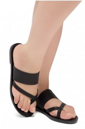 ShoeLand SL-Native- Open Toe Open Back Easy Slide Sandals (2020/Black)