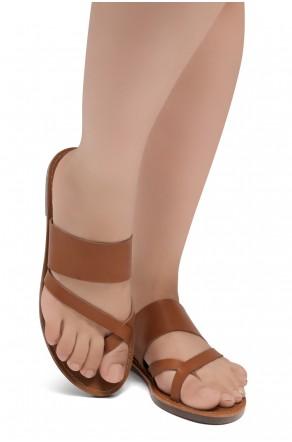 ShoeLand SL-Native- Open Toe Open Back Easy Slide Sandals (2020/Cognac)