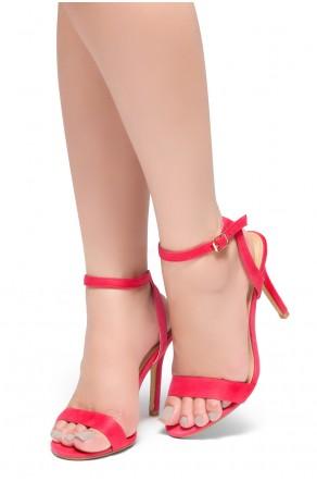 HerStyle Slay All Day-Open Toe Ankle Strap Stiletto Heel (Fuchsia)