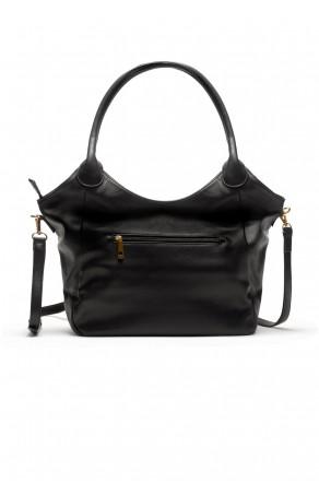 SLC-662661- Classic Simple Top Handle Bag (Black)