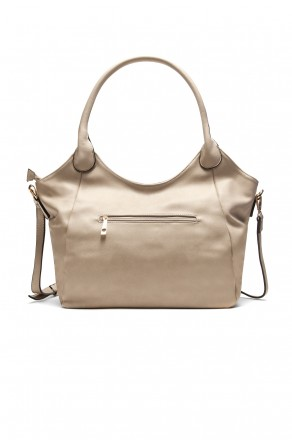 SLC-662661- Classic Simple Top Handle Bag (Khaki)