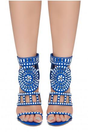 HerStyle SUNDA stiletto heel, jeweled embellishments (RoyalBlue)
