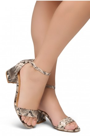 HerStyle SUNDAY-open toe, block heel,ankle strap with an adjustable buckle (NAT/SNK)