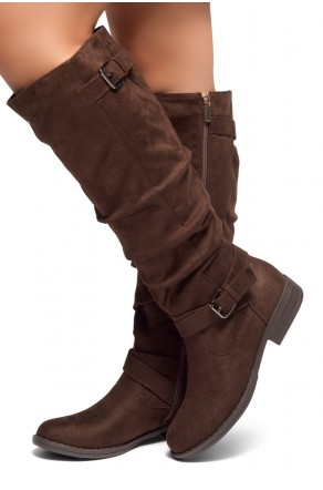 HerStyle Swagger-Women's Fashion Casual Boots (Brown)