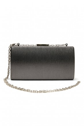 SZ9-16197- Georgeous classic look of hard case evening bag (Grey)