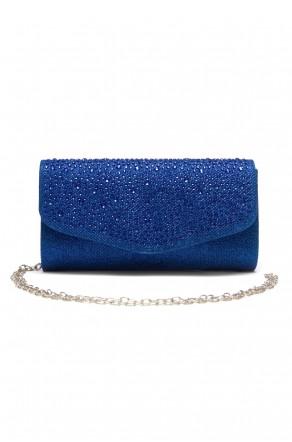 SZY-8808-Glittering Womens Flap Evening Purse (Blue)