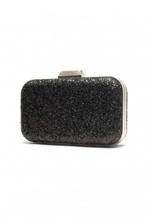 SZY-E8305- Georgeous glitter bling bling evening clutch (Black)