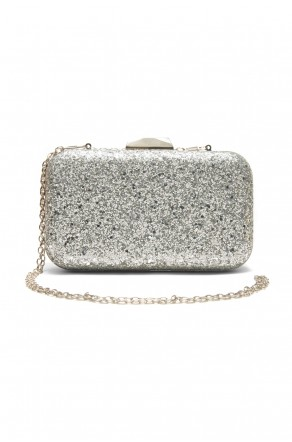 SZY-E8305- Georgeous glitter bling bling evening clutch (Silver)
