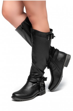 Zayylan Black Riding Knee high Boots